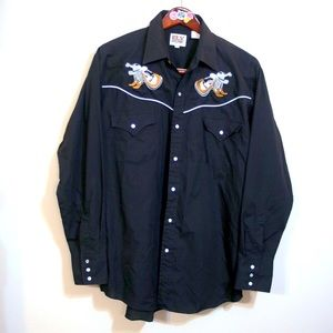 VTG Country Music Ely Cattleman embroidered shirt